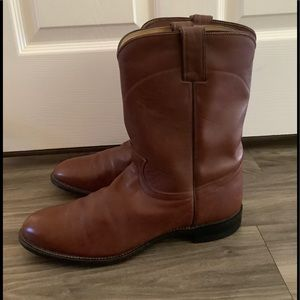 Mens Justin Leather Roper Western Cowboy Boots
